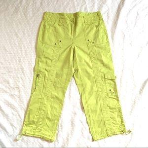 Style & Co Avocado Green Cargo Capri Pants Stretch